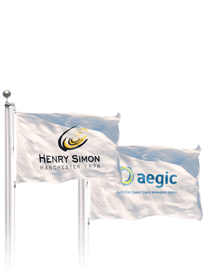 Henry Simon joined forces with AEGIC (Australian Export Grains Innovation Centre)